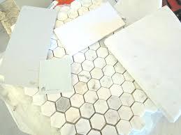 bathroom floor tiles honeycomb. Honeycomb Tile Bathroom Home Design  Great Creative Under Shower Black . Floor Tiles