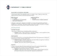 Usajobs Resume Sample How To Write Federal Resume Usa Jobs Resume