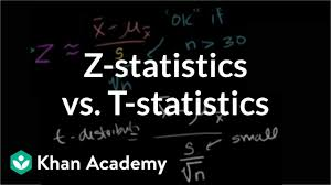 Z Statistics Vs T Statistics Video Khan Academy