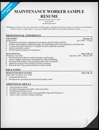 maintenance worker resume general maintenance worker resume sample ipasphoto
