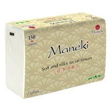 <b>Салфетки бумажные Maneki Kabi</b> 2 слоя, белые, 150 шт ...