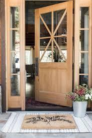 light wood and gl bo front door