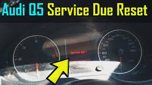 Reset Service Light Audi Q5 Audi Q5 Service Now Warning Reset How To Diy