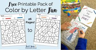 Colours worksheets and online activities. Free Printable Pack Of Color By Letter Fun Rock Your Homeschool