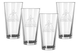 16oz engraved 4 drinking glass boardroom set
