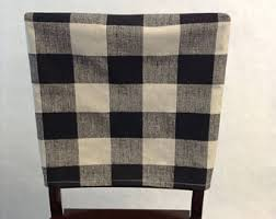 Two piece dinning chair back cover and seat cushion Buffalo