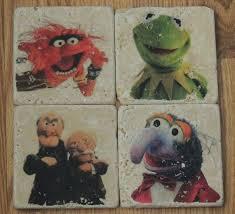 <b>FREE SHIPPING</b> - Vintage Disney <b>Muppets</b> Tumbled Marble Tile ...