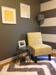 Image White Home Office Home Office Decor yellow grey white office home accentchair Pinterest Home Office Decor yellow grey white office home accentchair