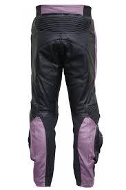 las leather trousers motorbike trousers combi trousers cow hide purple black