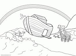 Stunning Design Noah S Ark Printable Coloring Pages And The Page