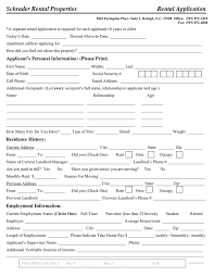 Rental Application Template In Word And Pdf Formats