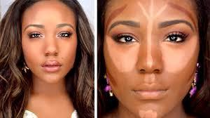 how to contour highlight foundation for black women makeup tutorial 2016 dark skin