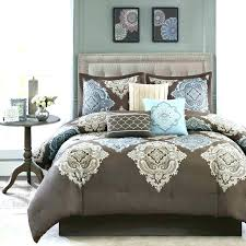 brown and aqua comforter sets teal bedding full gray white ergonomic set throughout re aqua and brown queen comforter sets