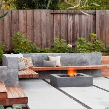 use concrete for durable outdoor furniture