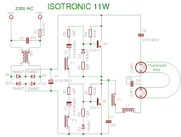 compact fluorescent lamp schema isotronic 11w