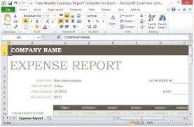 Expense Report Spreadsheets Free Weekly Expenses Report Template For Excel