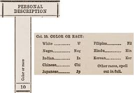 Race Codes Chart Measuring Race And Ethnicity Across The Decades 1790 2010