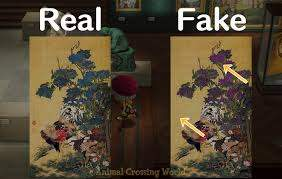 real vs fake art