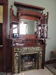aesthetic nouveau mantel antique fireplace