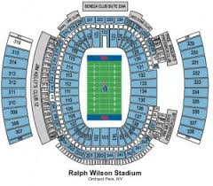 Buffalo Bills Virtual Seating Chart 13 Clean Bills Stadium Seating