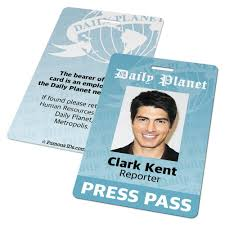 Famous And Custom Superman Ids – Press - Badges Card Cards Smallville Daily Badge Planet amp; Id Pass