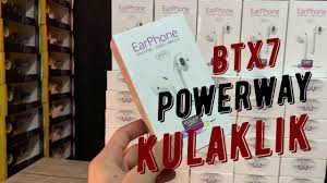 Powerway BTX7 Kablosuz Bluetooth Kulaklık Android ve IOS Uyumlu - YouTube