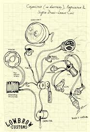 lowbrow customs tech triumph british chopper wiring diagrams lowbrow customs motorcycle wiring diagram capacitor no battery regulator and single dual lead coil