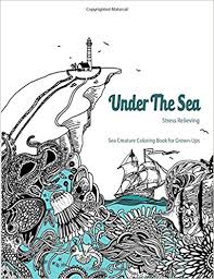 Under The Sea Adult Coloring Book Coloring Book For Grown Ups