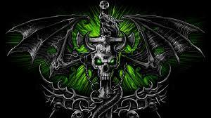 Skull Wallpaper For Bedroom Black Skull Dragon Wallpaper