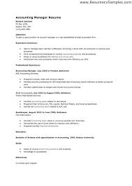 Resume Example For Accounting