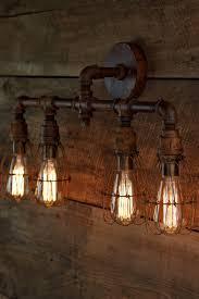 rustic bathroom lighting fixtures. the panzer4 vanity rustic metal pipe bathroom iron industrial lighting fixtures d