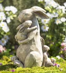 garden animal statues.  Statues Momma And Baby Bunnies Garden Statue  Statues And Animal Pinterest