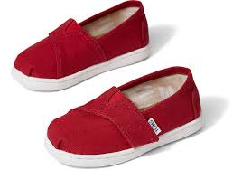Toms Tiny Shoe Size Chart Red Canvas Tiny Toms Classics 2 0 Toms