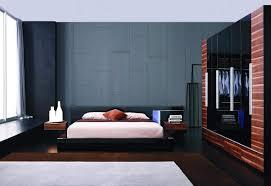Exclusive Leather Designer Bedroom Set with Blue Light Kansas