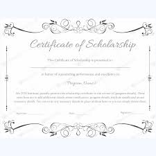 Scholarship Certificate Template 89 Elegant Award Certificates For Business And School Events