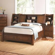 Bookcase Bedroom Furniture Grendel Eastern King Bookcase Bed With Footboard Storage And Hutch
