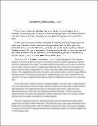 characteristics of expository essay characteristics of  this preview has intentionally blurred sections sign up to view the full version
