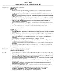 Resumes For Construction Construction Manager Resume Samples Velvet Jobs