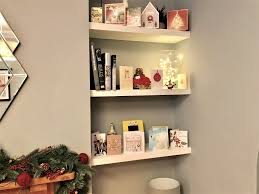 How to Build Floating Shelves in an Alcove