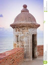 Lookout Tower Plans Lookout Tower At El Morro Castle Fort In Old San Juan Royalty Free