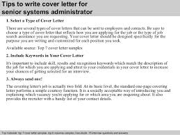 Senior Systems Administrator Cover Letter It Systems Administrator