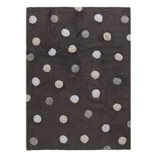 4 x 5 small tricolor polka dots elephant gray washable rug rc willey furniture