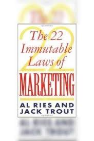22 Immutable Laws Of Marketing