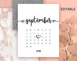 Pregnancy Calendar Etsy
