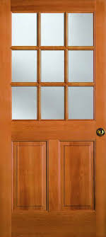 exterior solid douglas fir nine lite two panel bottom dutch door 1 7 16 raised panel 3 4 dual pane insulated glass 7944dutch l