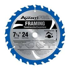 avanti pro 7 1 4 in x 24 tooth carbide framing saw blade p0724r the home depot