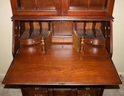 antique secretary desk for solid cherry jasper cabinet company block front pertaining to secretary desk