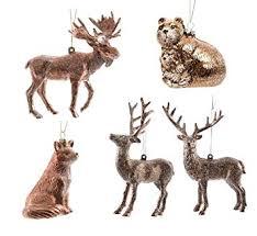 Amazonde 5 X Weihnachtsschmuck Waldtiere Kunststoff