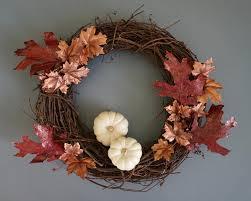 Fall Wreath A Diy Fall Wreath With Metallic Shine