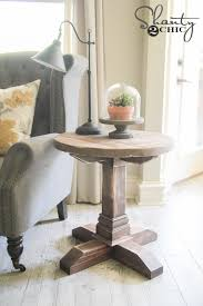 free plans diy round side table